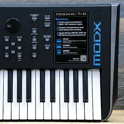 Yamaha MODX6 Music Synthesizer 61-Key Semi-Weighted Keyboard Synthesizer W/Box • 903.22£