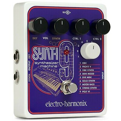 Electro-Harmonix SYNTH9 Synthesizer Machine With 9v Power Adapter -Dealer • 158.31£