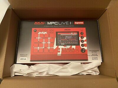 """SUPREME X AKAI MPC Live II STANDALONE DJ Sampler """"ORDER IN HAND"""" Only 1000 Made. • 1,398.28£"""