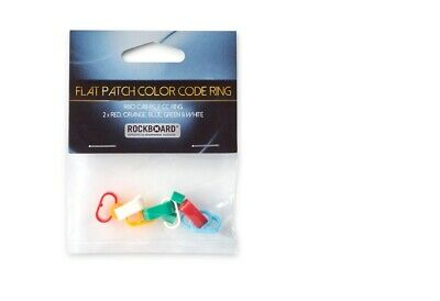 ROCKBOARD Color Code Rings For Flat Patch Cables,5 Colours,2 Pcs. Each