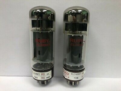 Ruby Tube EL34BHT 6CA7 Duet Of Vacuum Tubes Used & Tested  • 14.37£