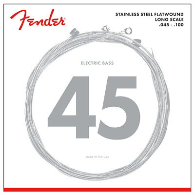 Fender 9050L Stainless Flatwound Bass Strings .045-.100 Long Scale 073-9050-403 • 21.20£