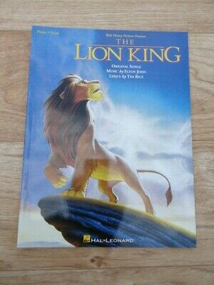 The Lion King (Hal Leonard Piano/Vocal/Guitar Sheet Music 1994) 72 pages (VGC)