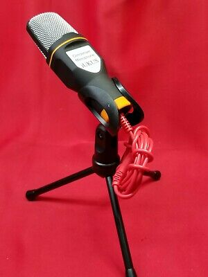 IUKUS PC Microphone With Mic Stand, Professional 3.5mm Jack Recording Condenser • 8.63£