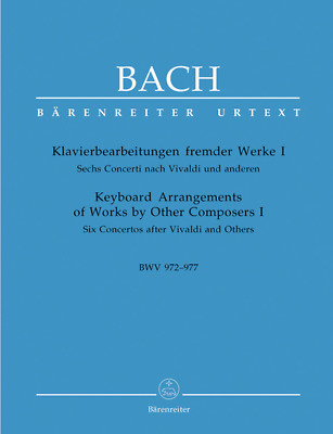 Keyboard Arrangements Of Works By Other Composers, Volume I Six Concertos After • 19.59£