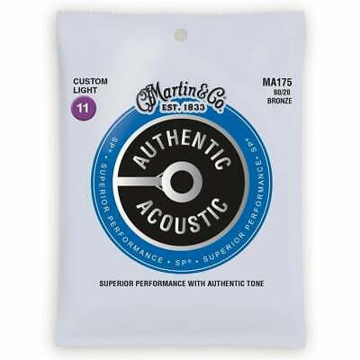 Martin MA175 Authentic Acoustic Light Gauge 11-52 Guitar Strings