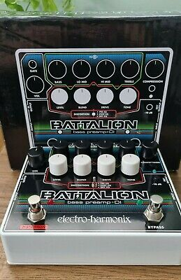 EHX Electro-Harmonix Battalion Bass Pre-amp and DI with Distortion