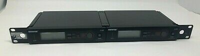 PAIR OF SHURE SLX4 H5 band 518-542MHZ WIRELESS RECEIVERS w/ rack mounts