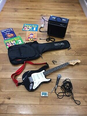 3/4 Size Squier by Fender Mini Stratocaster Black Electric Guitar