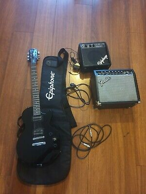 Electric guitar Epiphone les paul special ii with 2 amplifier