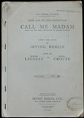 Vintage - Vocal Score & Music For the Musical