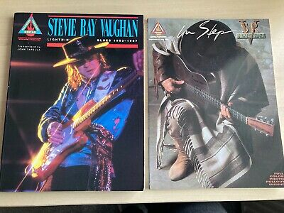 Stevie Ray Vaughan Guitar Tablature Books Lot In Step and Lightnin Blues 1983-87
