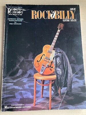 Great Rock-a-Billy Guitar Solos Authentic Record Versions Book Fair
