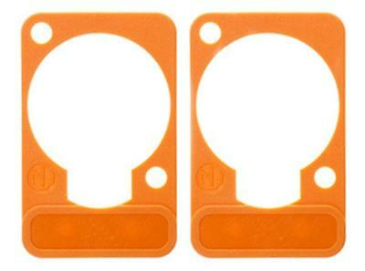 2 Pack Neutrik DSS-3-ORANGE  D-Series Lettering ID Plate For XLR Panel Connector • 3.47£