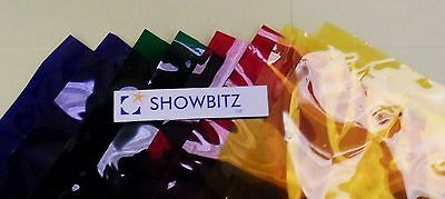 Sheet of Lee Filters L770 1.22 x 0.53m colour stage lighting gel Burnt Yellow