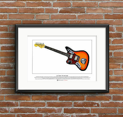 Kurt Cobain's Fender Jaguar Guitar Limited Edition Fine Art Print A3 Size • 18.50£