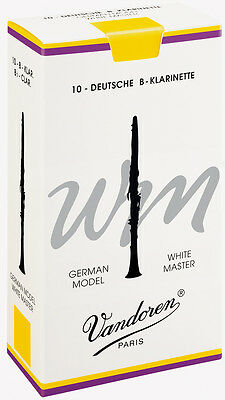 Vandoren White Master German Bb Clarinet Reeds 10 BOX 2 2.5 3 3.5 Free Delivery • 26.95£