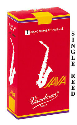 Vandoren Java Red Filed Alto Sax (Single Reed) Sax 1.5 2 2.5 3 3.5 Free Delivery • 4.20£