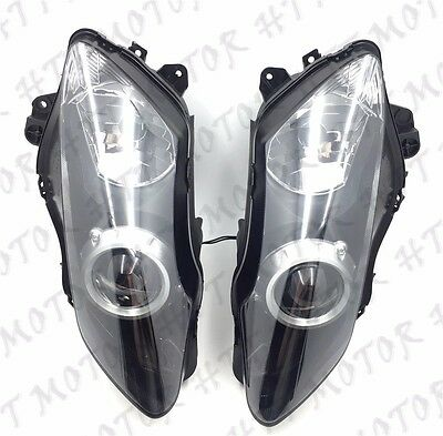 Left Right Headlight Head Lamp Assembly Fit For Yamaha YZF R1 YZF-R1 2007 2008 • 54.37£