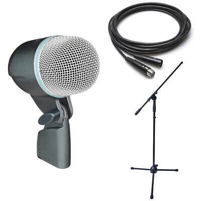 Shure Beta 52A Dynamic Microphone Bundle- Beta 52A Boom Stand & XLR Cable • 175.79£