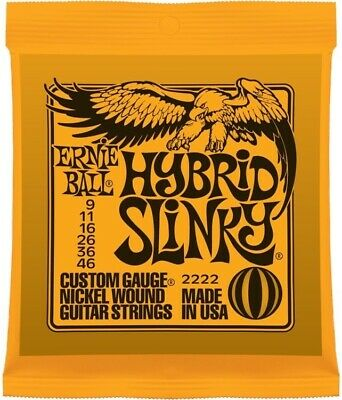 Ernie Ball 2222 Hybrid Slinky Electric Guitar Strings, 9-46 • 6.89£