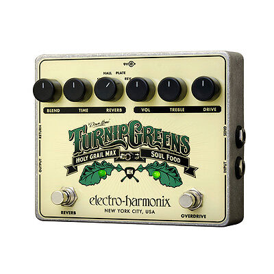 Electro Harmonix Turnip Greens, Holy Grail Max/Soul Food - Guitar Effect Pedal • 203£