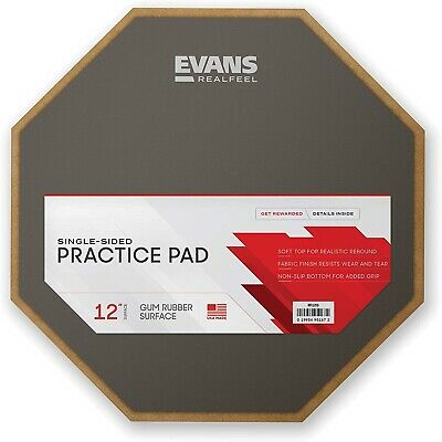 Evans Real Feel 12  1 Sided Practice Pad • 34£