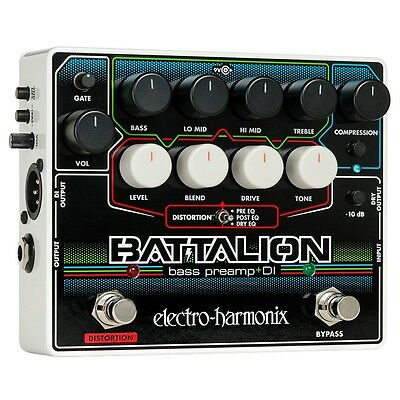 Electro Harmonix Battalion Bass Preamp Pedal -  Battalion Bass - New • 138£