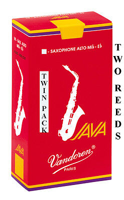 Twin Pack Vandoren Java Red Filed Alto Sax Reeds 1.5 2 2.5 3 Or 3.5 Free Del • 6.80£