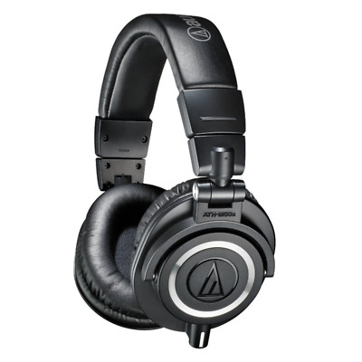 Audio Technica ATH-M50X Closed Back Pro Studio Monitor Headphones - Black • 119.99£