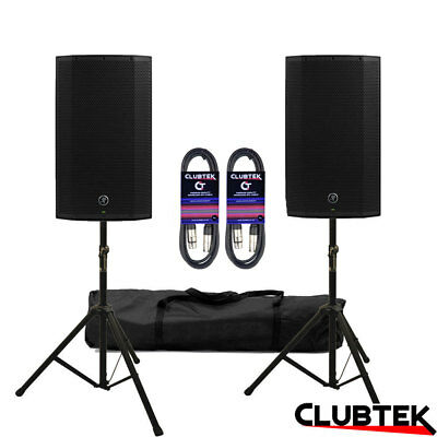 2 X Mackie Thump15A V4 Active Speaker 2600W DJ Club + FREE Stands Bag Leads UK • 549£