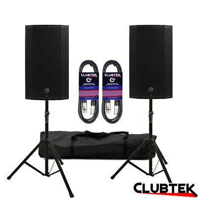 2 X Mackie Thump12A V4 Active Speaker 2600W DJ Club + FREE Stands Bag Leads UK • 509£
