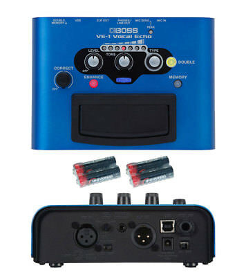 Boss VE-1 Vocal Echo With 4 Free Universal Electronics AA Batteries New VE1 • 130.80£