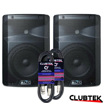 2 X Alto TX208 8  600W Active PA DJ Disco Powered Speaker PAIR With 6m Leads UK • 218£