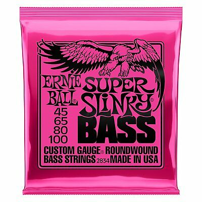 Ernie Ball Super Slinky Electric Nickel Wound Bass Guitar Strings 45-100 - 2834 • 21£