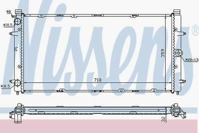 Nissens Radiator 65273A Fit With VW Transporter • 65.39£