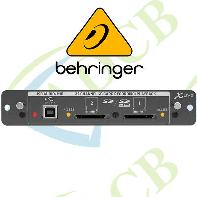 Behringer X-Live X32 Expansion Card For 32-Channel Live Recording/Playback On SD • 289.99£
