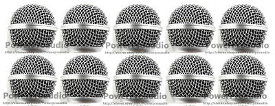 10 X Ball Head Mesh Microphone Grille Fit For Shure  SM58S SM58LC BETA58 BETA58A • 17.95£