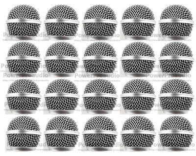 20 X Ball Head Mesh Microphone Grille Fit For Shure  SM58S SM58LC BETA58 BETA58A • 34.69£