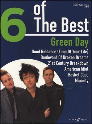 Green Day 6 of The Best Guitar TAB Music Book American Idiot Basket Case