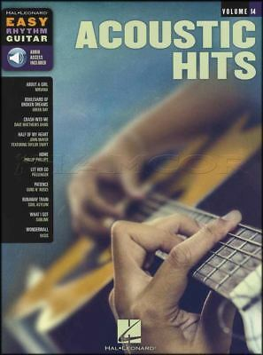 Acoustic Hits Easy Rhythm Guitar Chord Songbook & Audio Nirvana Oasis Green Day