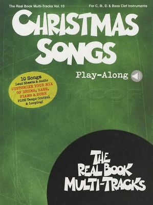 Christmas Songs Real Book Play-Along C Bb Eb & Bass Clef Music Book with Audio