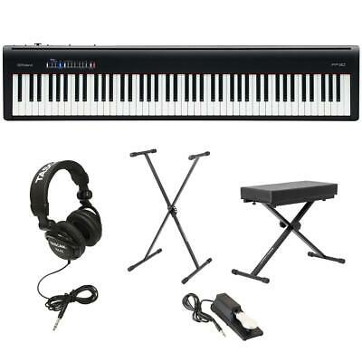 Roland FP-30 Digital Piano With On-Stage Keyboard Bench, Behringer HPS3000 Mic • 580.66£