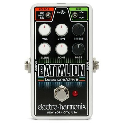 Electro Harmonix NANO BATTALION Bass Guitar Effect Pedal - New Boxed • 112£