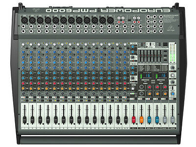 Behringer Pmp6000 Mixer Amplified 20 Channels With Effects 1200w • 508.88£
