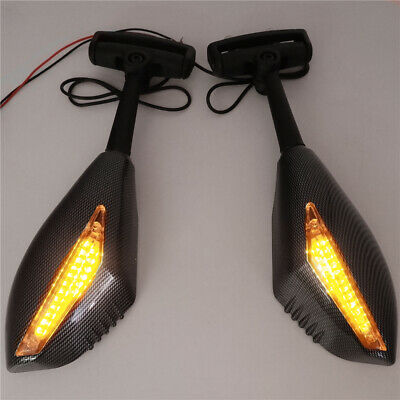 New Turn Signal Integrated Mirrors For Yamaha YZF 600 R1 FZR600 FZ1 FZR CARBON • 21.49£