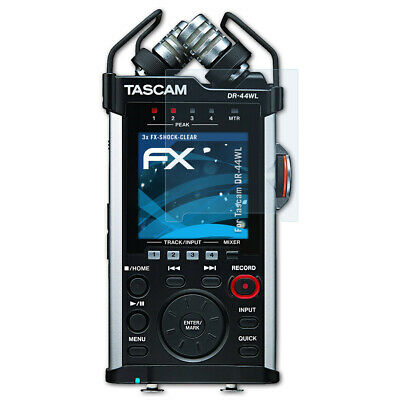 AtFoliX 3x Anti Shock Screen Protector For Tascam DR-44WL Clear&shockproof • 7.09£