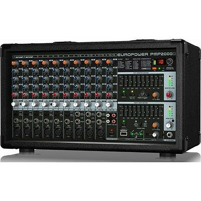 Behringer Pmp2000d Mixer Amplified With Effects Digital 14 Channels 2000w • 296.35£