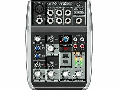 Behringer Q502USB Mixer 5 Way With USB Without Effects For Voice • 85.75£