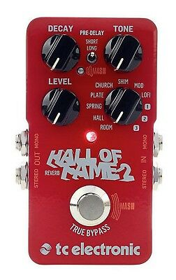 TC Electronic Hall Of Fame 2 Reverb Effect Reverb Pedal For Guitar • 156.79£